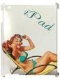 Чехол для iPad 2/3, Девушка на пляже.iPade
