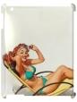 Чехол для iPad 2/3, Девушка на пляже.