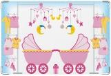 Обложка для свидетельства о рождении, Для девочки