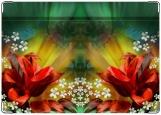 Обложка на трудовую книжку, Красные цветы