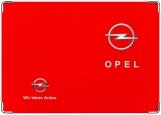 Обложка на автодокументы с уголками, opel-red