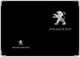 Обложка на автодокументы с уголками, PEUGEOT