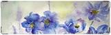 Визитница/Картхолдер, цветы в голубом