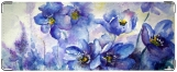 Кошелек, цветы в голубом