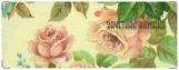 Обложка на зачетную книжку, розы акварель
