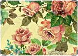 Обложка на паспорт с уголками, розы акварель