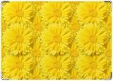Обложка на автодокументы с уголками, Желтые цветы.