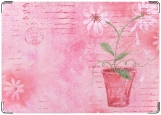 Обложка на паспорт с уголками, Цветы в горшке