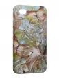 Чехол iPhone 4/4S, Бабочки-цветы