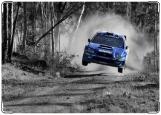 Обложка на автодокументы с уголками, Subaru Rally