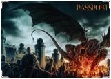 Обложка на паспорт с уголками, Dragon