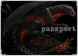 Обложка на паспорт с уголками, Fire dragon