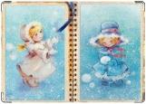 Обложка на паспорт с уголками, девочки