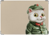 Обложка на военный билет, кот