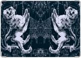 Обложка на паспорт с уголками, Зодиак Лев