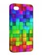 Чехол iPhone 4/4S, Разноцветные квадраты