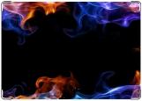 Обложка на паспорт с уголками, пламя