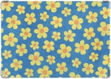 Обложка на паспорт с уголками, желтые цветы