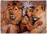 Обложка на паспорт с уголками, Богиня