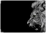 Обложка на паспорт с уголками, Lion