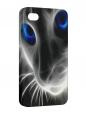 Чехол iPhone 4/4S, Кошка ч/б