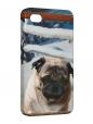 Чехол iPhone 4/4S, Мопс.