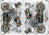 Обложка на автодокументы с уголками, Motorcycles