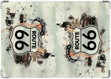 Обложка на автодокументы с уголками, Route 66