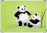 Обложка на паспорт с уголками, панды