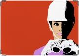 Обложка на паспорт с уголками, Одри Хепберн