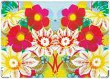 Обложка на паспорт с уголками, Flower Splash