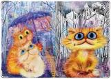 Обложка на паспорт с уголками, Кошки
