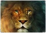 Обложка на паспорт с уголками, лев