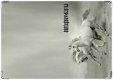Обложка на автодокументы с уголками, кони2
