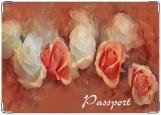 Обложка на паспорт, Розы