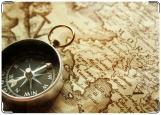 Обложка на паспорт с уголками, компас