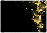 Обложка на паспорт с уголками, золотые бабочки
