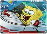 Обложка на автодокументы с уголками, SpongeBob