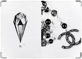 Обложка на паспорт с уголками, Chanel Diamond