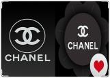 Обложка на паспорт с уголками, Chanel Love