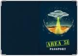 Обложка на паспорт с уголками, Инопланетянин