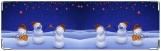 Визитница/Картхолдер, снеговики