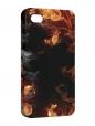 Чехол iPhone 4/4S, Цветы пламя