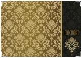 Обложка на паспорт с уголками, золотые узоры