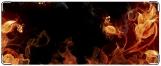 Кошелек, огненные цветы