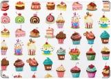 Обложка на паспорт с уголками, Cupcakes