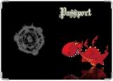 Обложка на паспорт с уголками, дракон6