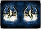Обложка на паспорт с уголками, дракон13