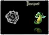 Обложка на паспорт с уголками, дракон2