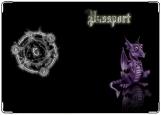 Обложка на паспорт с уголками, дракон4